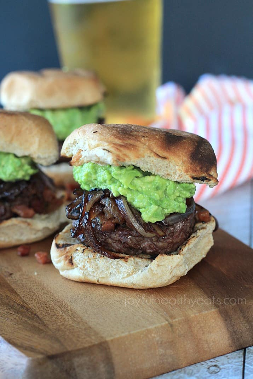 "Mouthwatering Gourmet ""Cowboy"" Slider , ah-mazing! | www.joyfulhealthyeats.com #burgers"