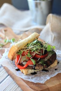 Image of Grilled Portobello Burgers with Balsamic Reduction