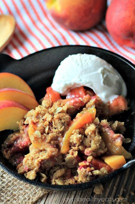 Raspberry Peach Cobbler with Oatmeal Pecan Crumble_7