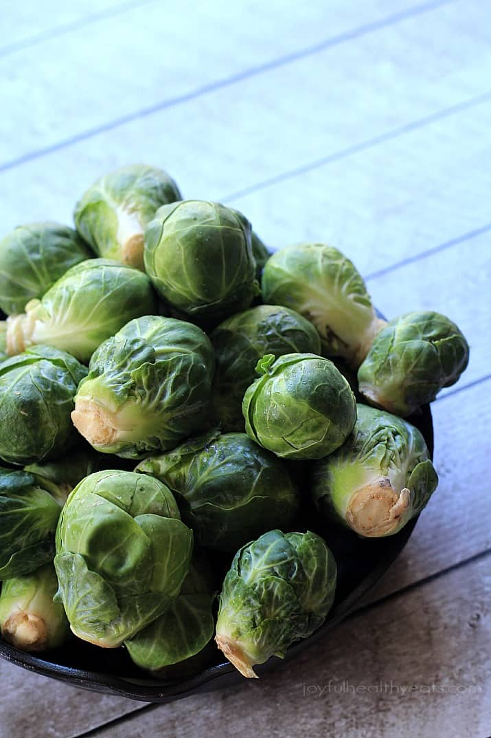 A bowl of whole Brussels Sprouts