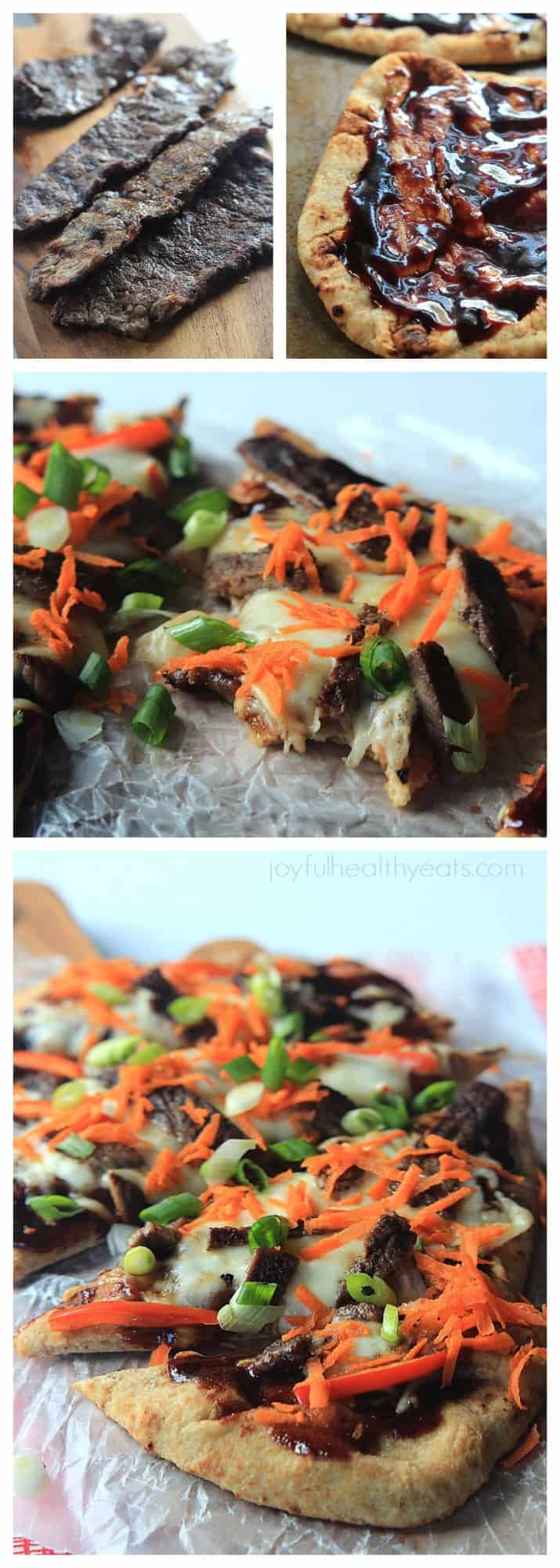 Grilled Asian Short Rib Pizza with Blackberry Hoisin Sauce, definitely one incredible pizza recipe! | www.joyfulhealthyeats.com