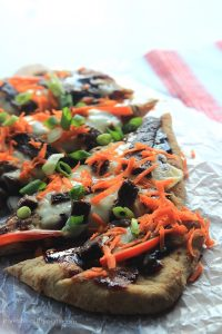 Image of Grilled Asian Short Rib Pizza with Blackberry Hoisin Sauce