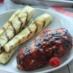 Grilled Chicken Breast with Raspberry Chipotle BBQ Sauce