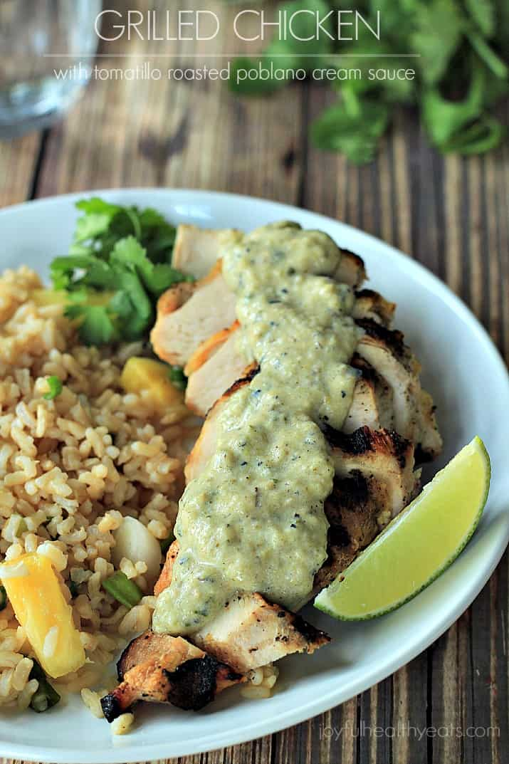 ... Men Cook: Grilled Chicken with Tomatillo Roasted Poblano Cream Sauce