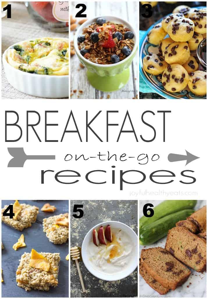Breakfast On-the-Go Recipes, perfect for Back to School season! | www.joyfulhealthyeats.com