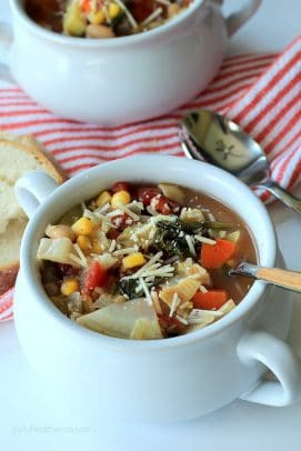Hearty Minestrone Soup | The Best Homemade Minestrone Soup