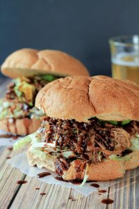 Image of Honey Balsamic Pulled Pork Sandwiches