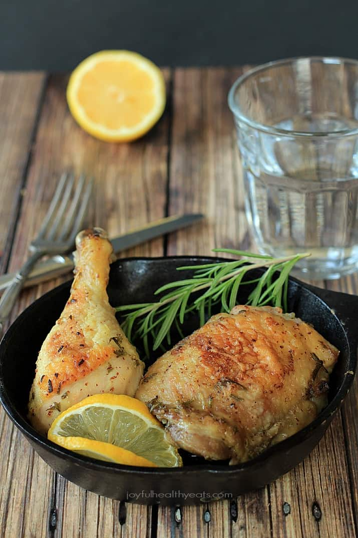 Lemon Rosemary Baked Chicken, full of fresh flavors and done in minutes! | www.joyfulhealthyeats.com