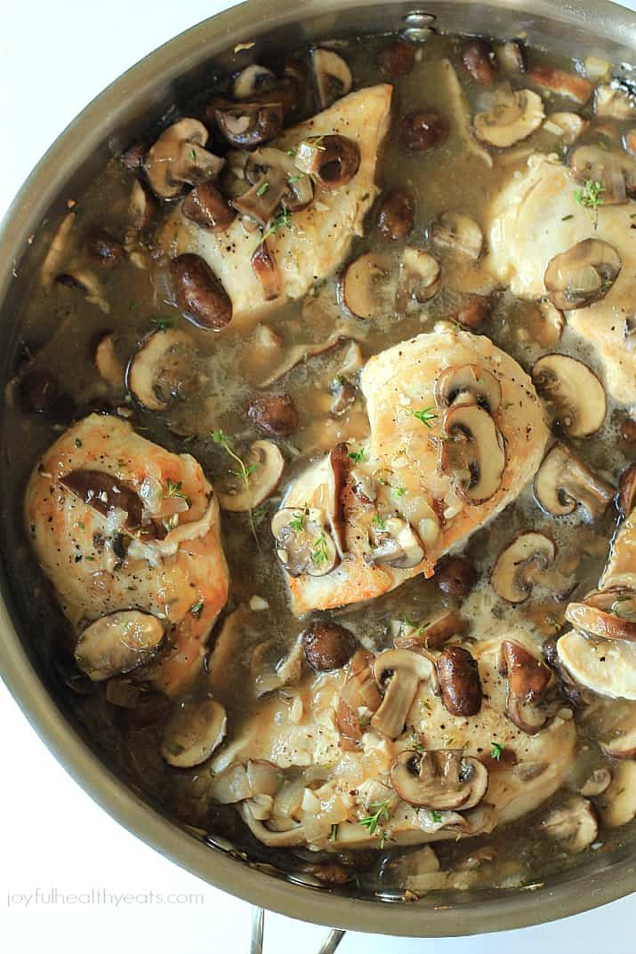 full flavor Pan Seared Chicken recipe cooked in a Wild Mushroom Sauce ...