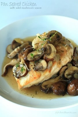 Pan Seared Chicken with Wild Mushroom Sauce_4