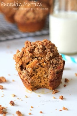 Pumpkin Muffins with Cinnamon Pecan Streusel Topping_5