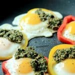 Egg in a Hole with Basil Pesto Image
