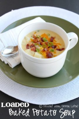 Loaded Baked Potato Soup in a bowl