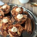 Caramel Apple Pie Wonton Cups with a Cinnamon Mascarpone