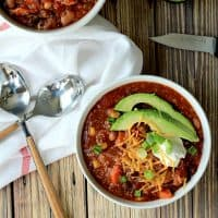 Crock Pot Quinoa Vegetarian Chili