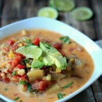 Crock Pot Southwestern Corn & Potato Chowder {Dairy Free}