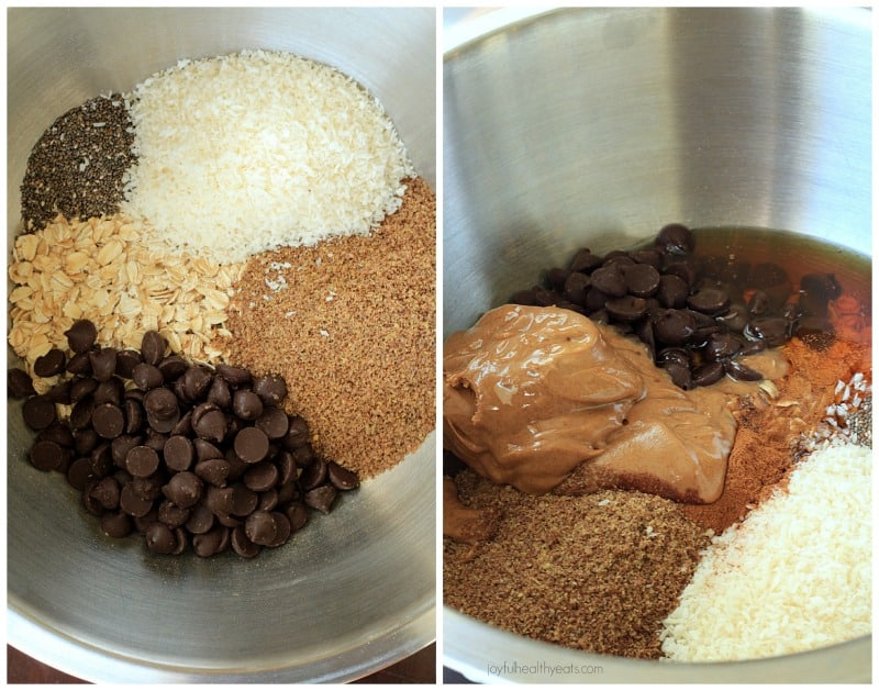 Image of Ingredients for No Bake Dark Chocolate Coconut Energy Bites