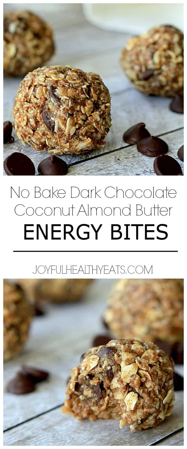 Title Image for No Bake Dark Chocolate Coconut Energy Bites