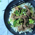 {paleo} Beef & Broccoli Stir fry with Cauliflower Rice