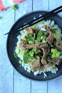 {paleo} Beef & Broccoli Stir fry with Cauliflower Rice