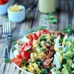 Southwestern Cobb Salad with Creamy Poblano Dressing
