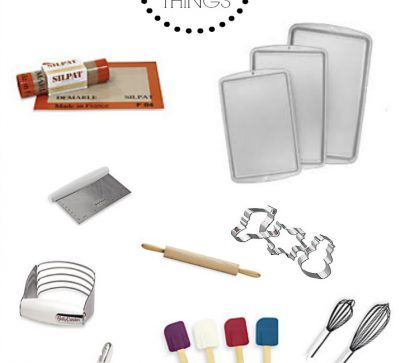 Pans, Siphalt Liners, a Rolling Pin, Cookie Cutters and Other Baking Supplies