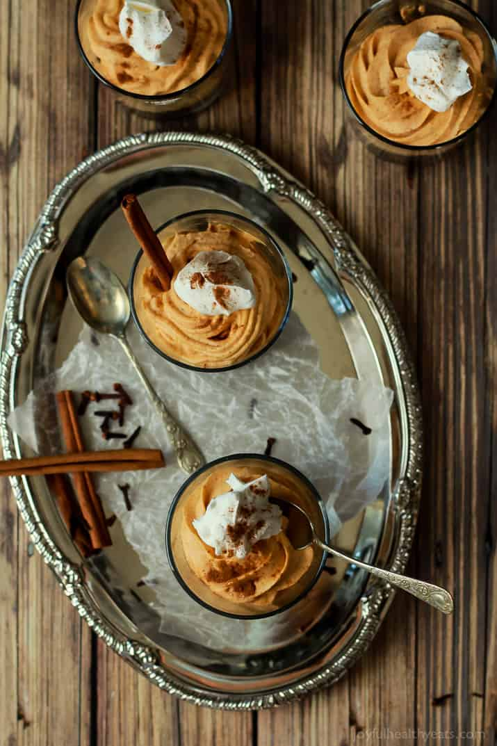 No Bake Pumpkin Cheesecake with Gingersnap Pecan Crust - creamy, comforting, and pumpkin heaven! Easy make ahead dessert. | www.joyfulhealthyeats.com