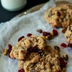 Pistachio Cranberry Oatmeal Cookies