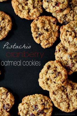 Pistachio Cranberry Oatmeal Cookies-5