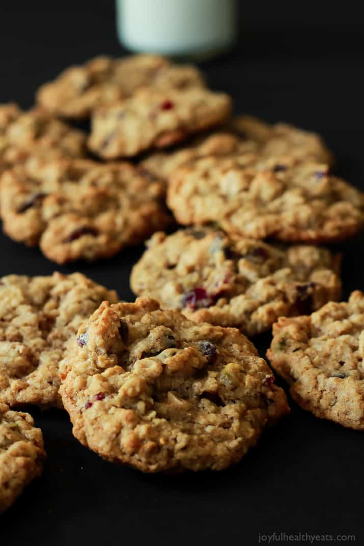 holidays, Pistachio Cranberry Oatmeal Cookies. Easy to make, healthy ...