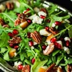 Pomegranate Goat Cheese Candied Pecan Arugula Salad-2
