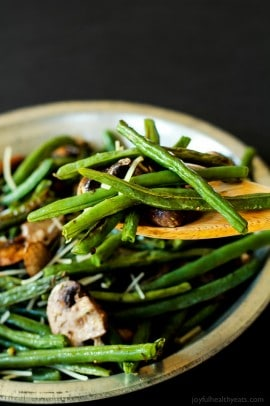 Roasted Green Beans & Mushrooms-6