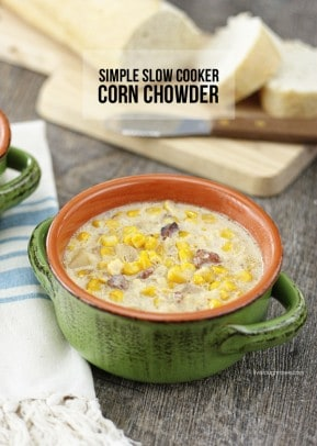 Simple Slow Cooker Corn Chowder