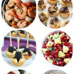 pinterest image for 32 easy party appetizers for the holidays