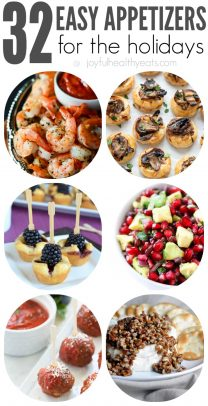 A Collage of Six Easy Appetizers for Celebrations