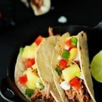 Crock Pot Hawaiian Pork Tacos