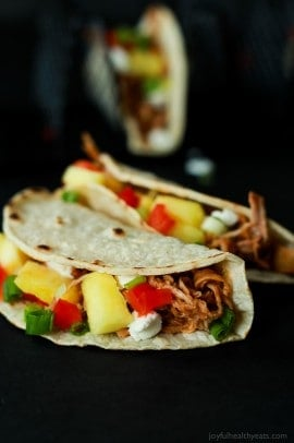 Crock Pot Hawaiian Pork Tacos-8
