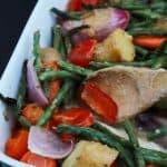 One Pot Creamy Garlic Butter Baked Chicken & Vegetables-7