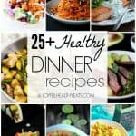 A Collage of Nine Healthy Homemade Dinners