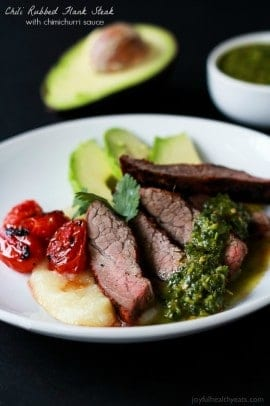 Chili Rubbed Flank Steak wtih Chimichurri-4