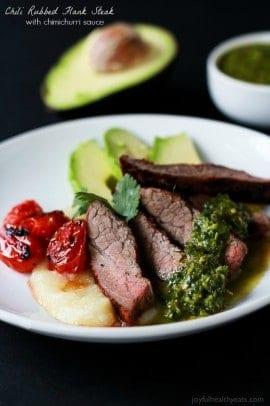 Chili Rubbed Flank Steak wtih Chimichurri-4
