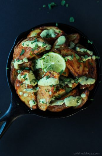 Image of Oven Roasted Potato Wedges with Avocado Wasabi Aioli