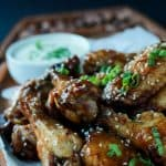 Tangy Honey Mustard Baked Chicken Wings