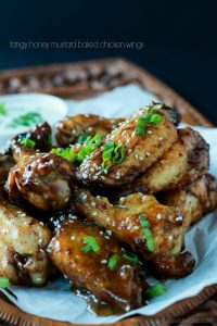 Image of Honey Mustard Baked Chicken Wings