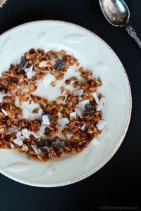 Bowl of Homemade Almond Joy Granola
