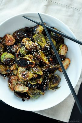 Honey Soy Roasted Brussels Sprouts-2