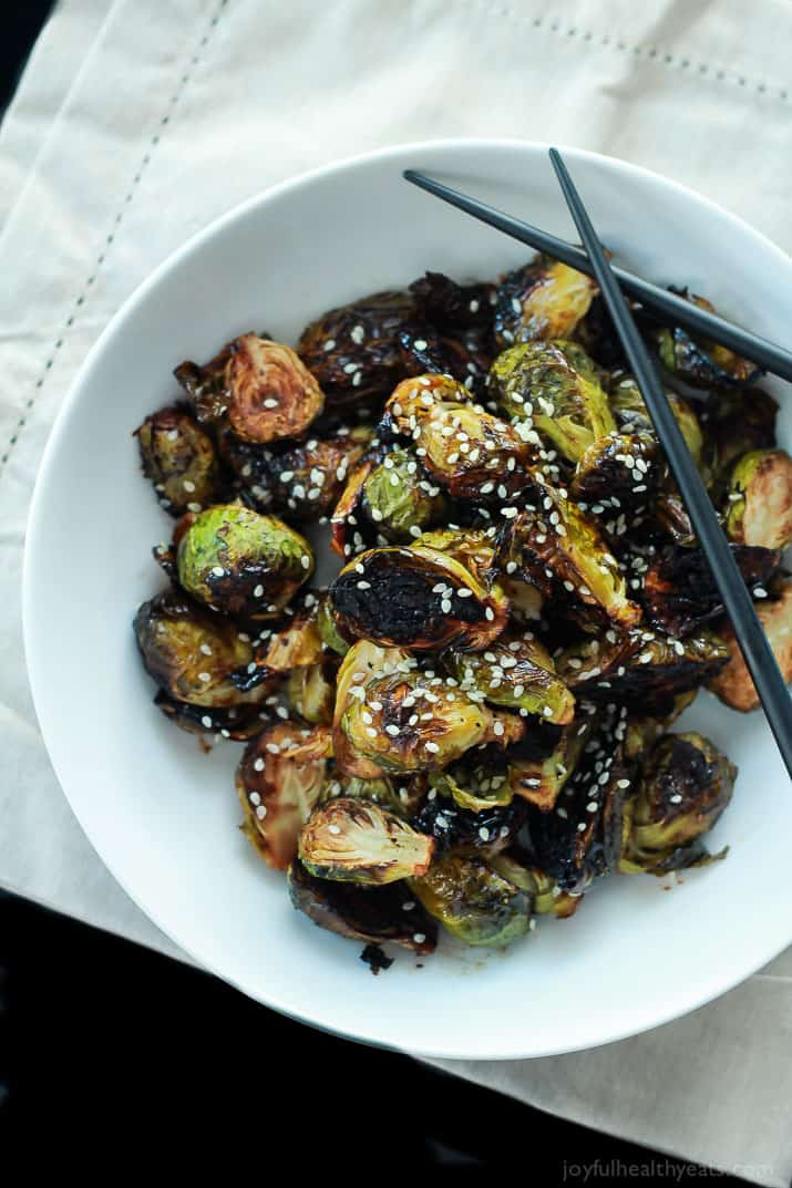 Honey Soy Roasted Brussels Sprouts