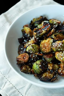 Honey Soy Roasted Brussels Sprouts-6