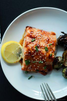 Skinny Hoisin Honey Glazed Salmon-6