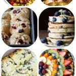 A Collage of Eight Homemade Brunches